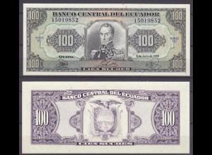 ECUADOR 100 SUCRES 22-6-1988 VU PICK # 123 UNC (1) (10917