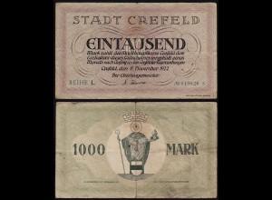 Rheinland - Crefeld Krefeld 1000 Mark 1922 Notgeld F/VF (14679