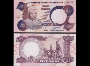 NIGERIA - 5 NAIRA Banknote PICK 24g 2002 UNC sig. 11 ( 14522