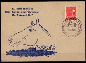 Aachen 17.Internationales Reit-Spring- Fahrturnier 17-8-1947 SST Pferde