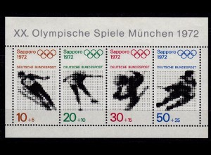 GERMANY S/SHEET WINTER OLYMPICS 1972 Block ** 6 MNH (6750