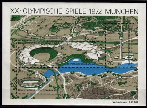 GERMANY S/SHEET 1972 SUMMER OLYMPICS Bl.7 MNH ** (6751