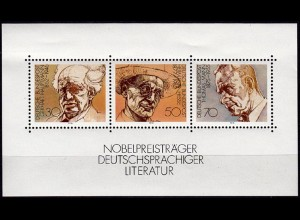 GERMANY S/SHEET 1978 Nobel Laureates Block 16 ** MNH (6757
