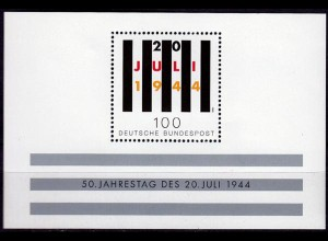 GERMANY S/SHEET 50 Years NAZI RESISTANCE Block 29 ** MNH (6760