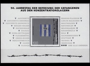 GERMANY S/SHEET 50 years camp RELIEF Block 32 ** MNH (6763