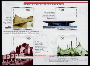 GERMANY S/SHEET Architecture after 1945 Block 37 ** MNH (6768