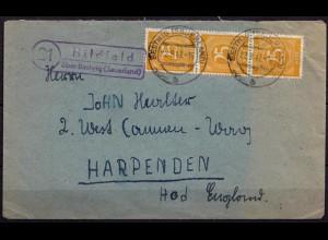 Brief Posthilfstelle Hildfeld über Bestwig Sauerland 22-9-1947 MEF (6811