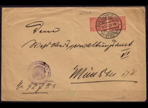 Oldenburg (SST)-Münster Dienst-Behördenbrief 10-5-1922 (6888