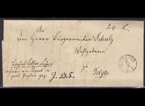 Münster Westfalen Bürgemeisterbrief Paketbegleitbrief nach Telgte 1843 (5808