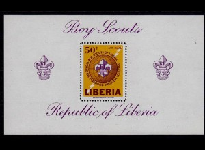 LIBERIA Pfadfinder Boys SCOUTS Block S/Sheet ** (7228