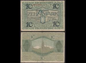 Hessen - Frankfurt 10 Mark Gutschein 1918 Notgeld 507 747 (13812