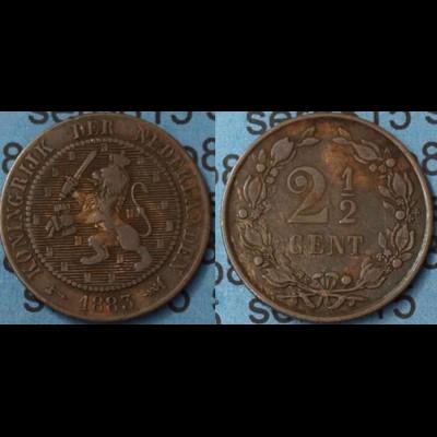 Niederlande Netherlands 2 1/2 Cent 1883 (7487