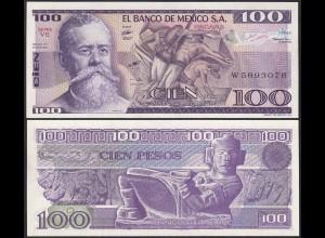 Mexiko - MEXICO - 100 Pesos Banknote VE 1982 UNC Pick 74c (13523