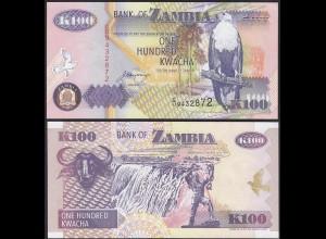Sambia - Zambia - 100 Kwacha 1992 Prefix CU - UNC = Kassenfrisch (13104