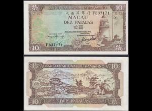 Macau - 10 Petacas Banknote 1981 Pick 59b XF+ (13499