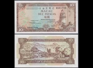 Macau - 10 Petacas Banknote 10-5-1984 Pick 59e UNC (13495