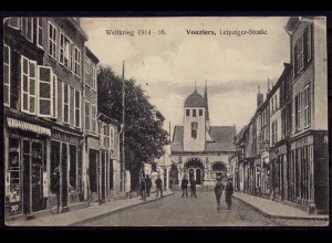 AK Vouziers Leipziger Str. 1. Weltkrieg FRANCE (7589