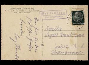 AK Posthilfstelle/Landpost Grillenberg über Sangerhausen selten (7626
