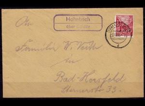 Posthilfstelle/Landpost Hohnbach über Colditz 1955 (7630