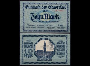 Kiel Stadt Notgeld 10 Mark 1918 (7685