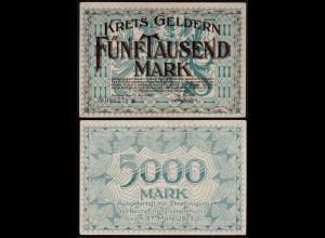 Rheinland - Geldern Kreis Kleve 5000 Mark 15-4-1923 VF+ (15373