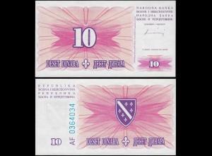 Bosnia & Herzegovina - 10 Dinara Banknote 1994 UNC Pick 41 (14417