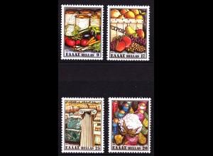 Griechenland Greece 1441-44 1981 Ausfuhrprodukte ** (8116