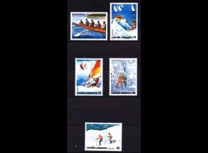 Griechenland Greece MiNr. 1515/19 1983 Sport ** (8134