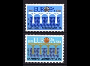 Griechenland Greece MiNr.1555/56 1984 Europa CEPT ** (8139