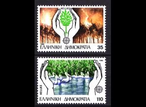 Griechenland Greece MiNr.1630/1631 ** UMWELTSCHUTZ (8155