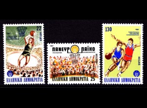 Griechenland Greece MiNr.1653/55 ** Basketball EU (8162