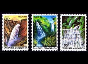 Griechenland Greece MiNr.1692/94 Wasserfälle ** (8171