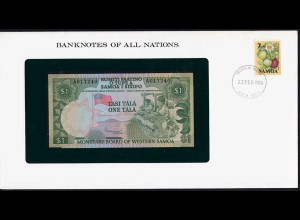 Banknotes of All Nations - Samoa I Sisifo 1 Tala 1980 Pick 19 UNC (15615