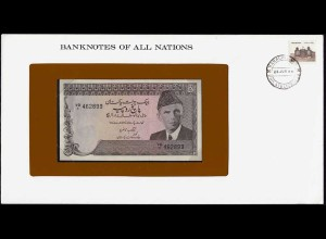 Banknotes of All Nations - Pakistan 5 Rupee 1976 Pick 38 UNC (15614