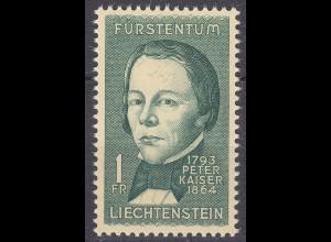 Liechtenstein - Mi. 448 postfrisch 1964 Peter Kaiser Historiker (11334