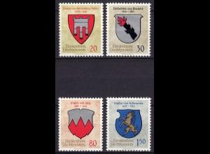 Liechtenstein - Mi. 440-443 postfrisch 1964 Wappen (11331