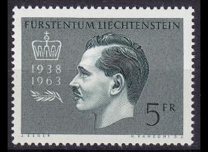 Liechtenstein - Mi. 427 postfrisch 1963 Fürst Franz Josef II. (11327