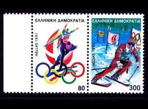 Griechenland Greece MiNr.1788/9 ** Olympiade Albertville (8195