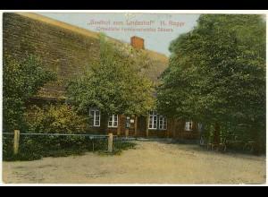 AK Gasthof zum Lindenhof Dünsen Harpstedt Bahnpost (2155