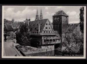 AK Nürnberg Partie an der Maxbrücke (b046
