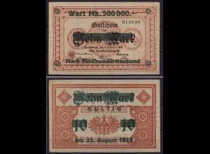 Niedersachsen - Osnabrück/Handelsk. 500.000 Überdr.1923 10 Mark 1918 1914