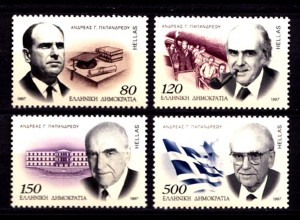 Griechenland Greece MiNr.1933/36 ** 1997 Papandreou (8226