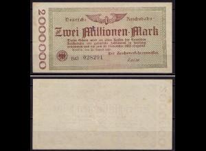 Reichsbahn Berlin 2 Millionen Mark 1923 XF (ca976