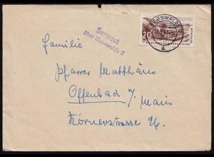 Serwest über Eberswalde Posthilfstelle/Landpost 1957 (8552