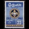 Ceylon 50 Jahre Pfadfinder-Bewegung 1962 ** (8577