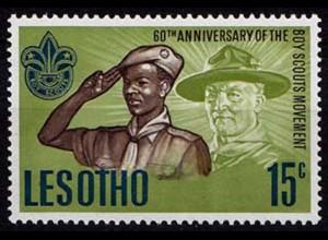Lesotho 60 Jahre Pfadfinder-Bewegung 1967 ** (8579