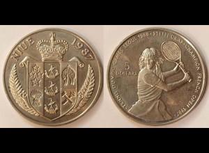 5 $ Olympiade Tennis Steffi Graf Niue 1987 (8723