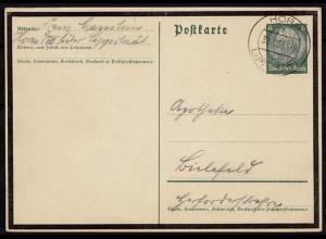 Horn Über-Stempel/Landpost Lippstadt nach Bielefeld 1935 (8743