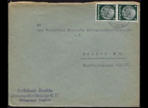 Bützfleth Überstempel/Landpost Stade nach Berlin Krieggräberfürsorge (8746