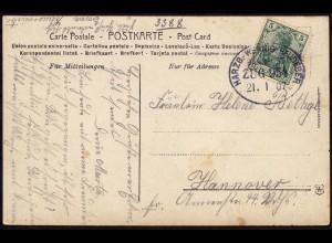 Bahnpost Harzburg - Wernig - Heudeber 1907 AK Ilsenburg (8763